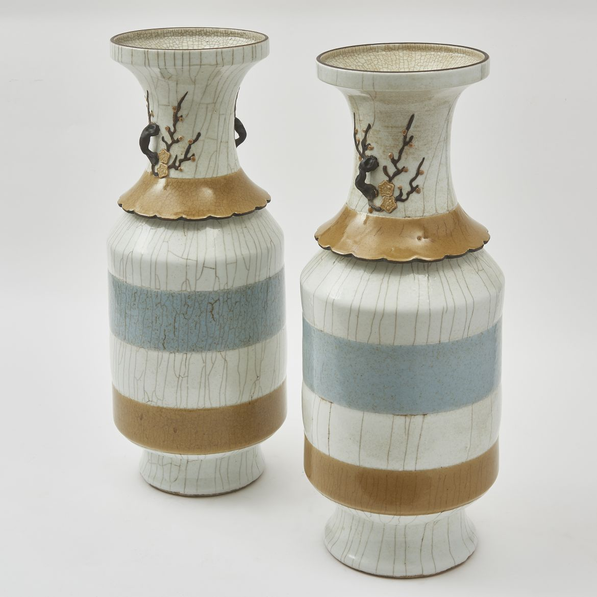 Chinese Crackleware Porcelain Vases