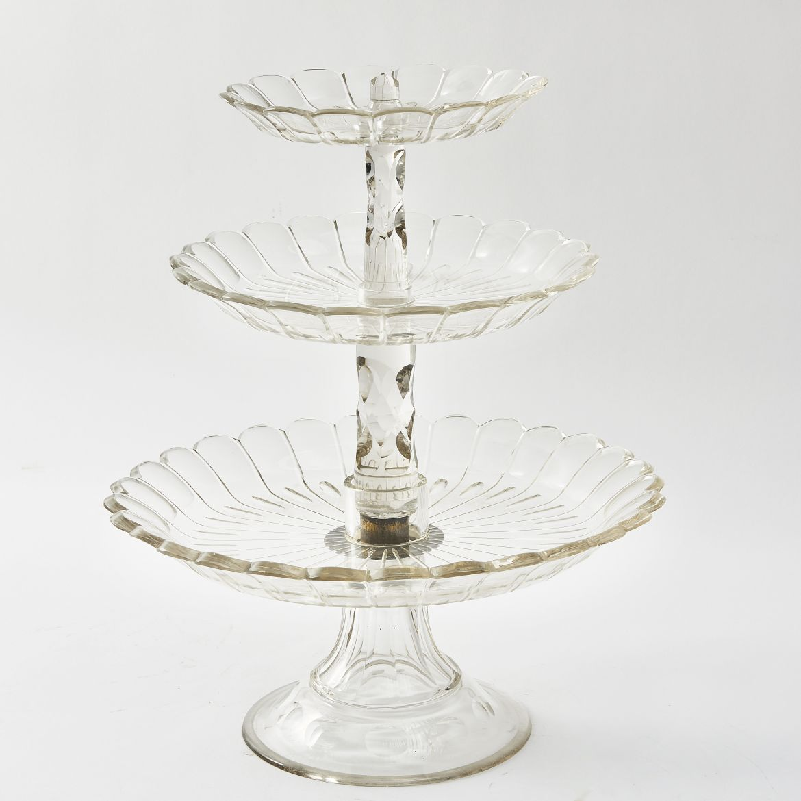 Victorian Cut Glass Cake Stand