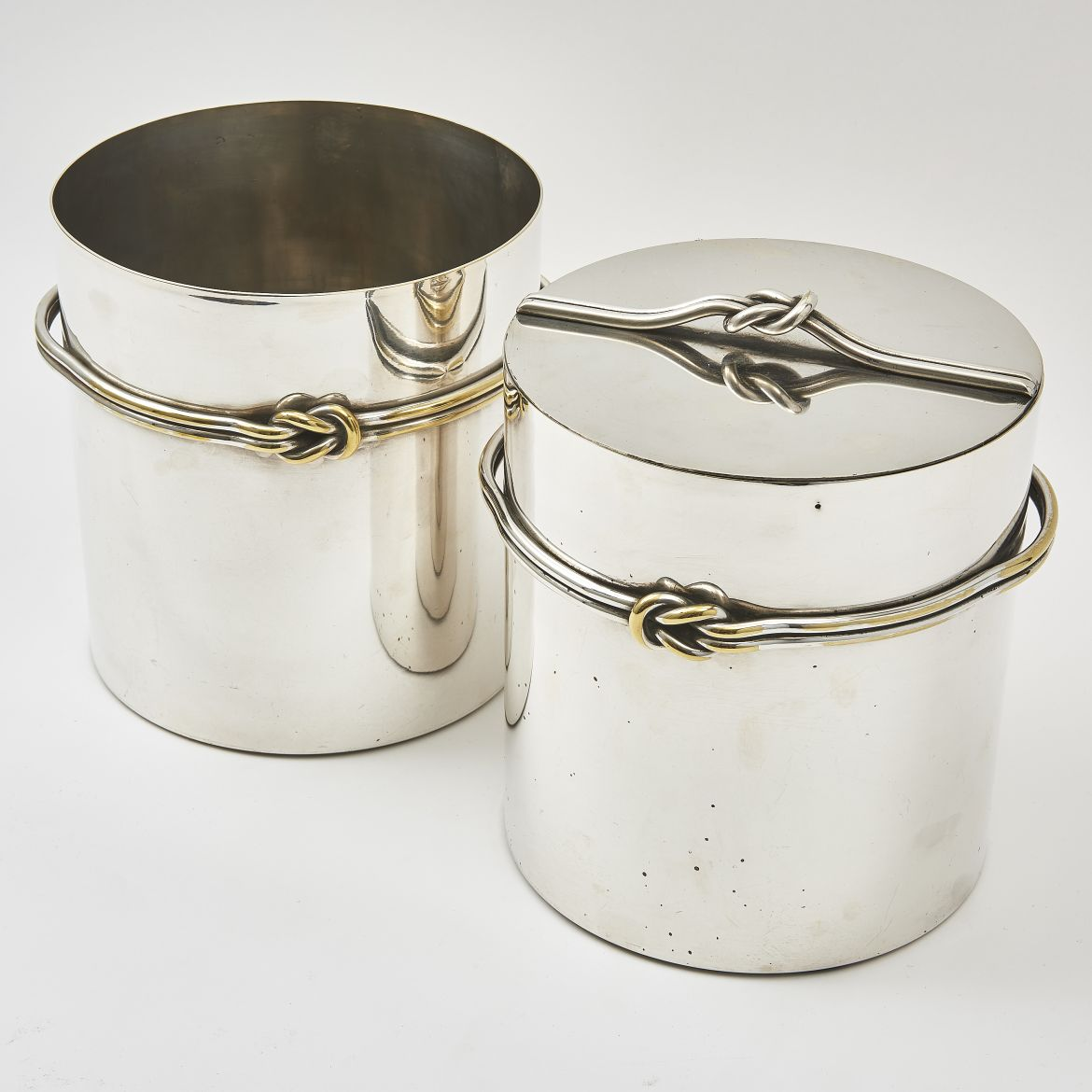French Silver Plated Wine Cooler And Ice Bucket