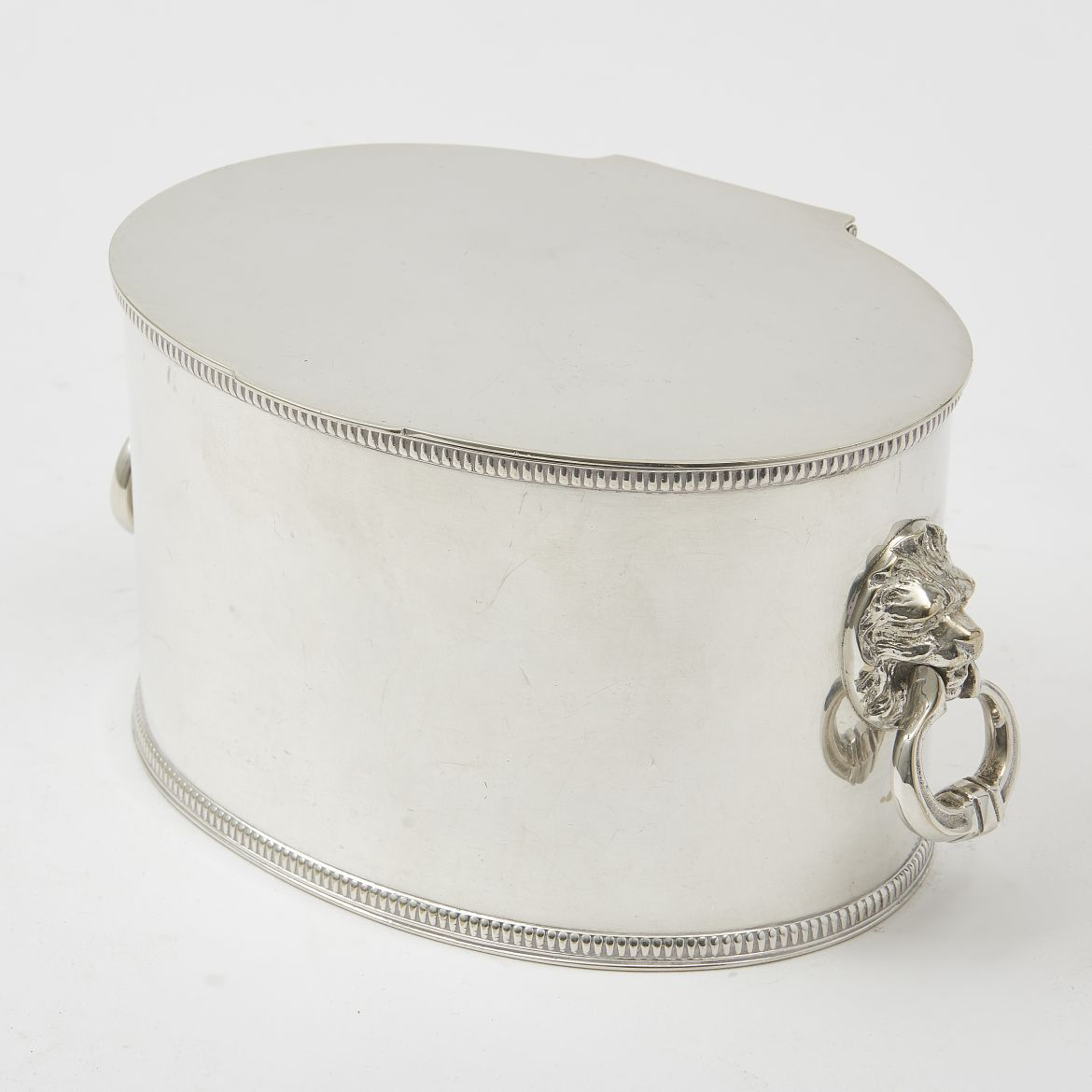 Edwardian Silver Plate Box With Lion Handles