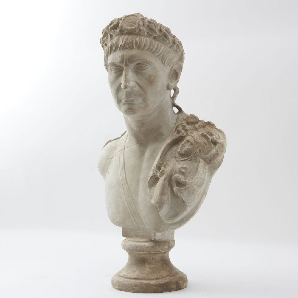 Italian Studio Plaster Bust Of The Emperor Trajan