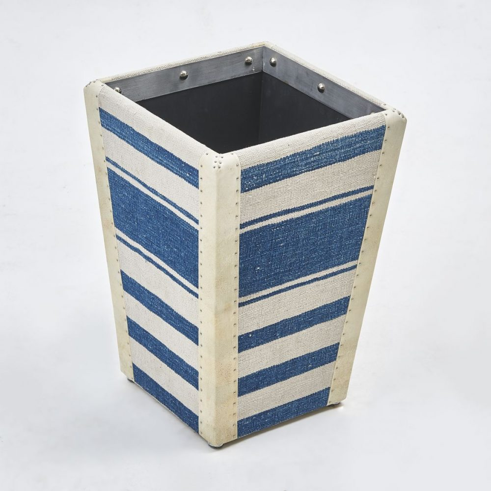 Contemporary Dhurrie Waste Paper Basket