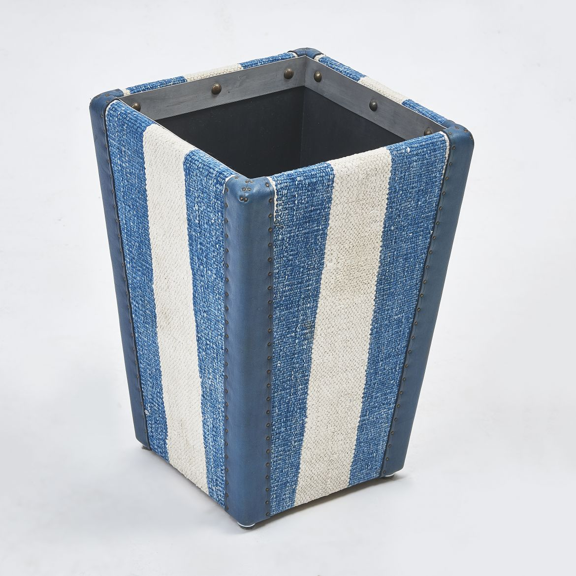 Striped Dhurrie Waste Paper Basket