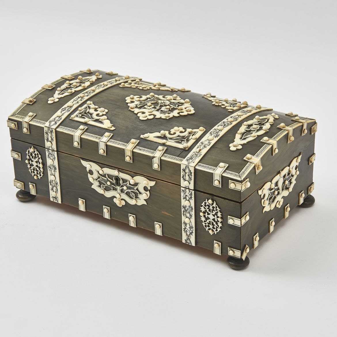 Anglo Indian Domed Horn Sewing Box