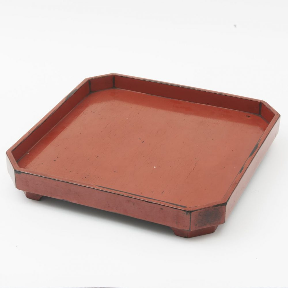Japanese Orange Lacquer Tea Tray