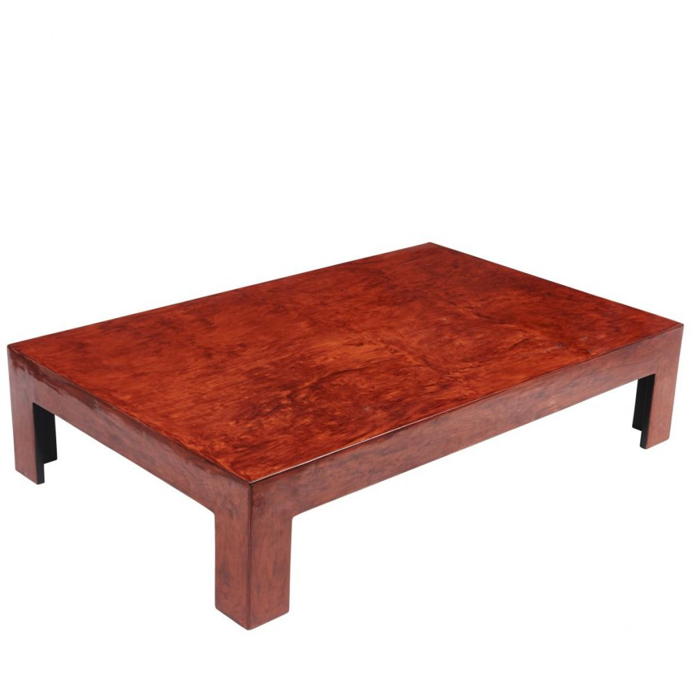 Chinese Red Lacquer Coffee Table
