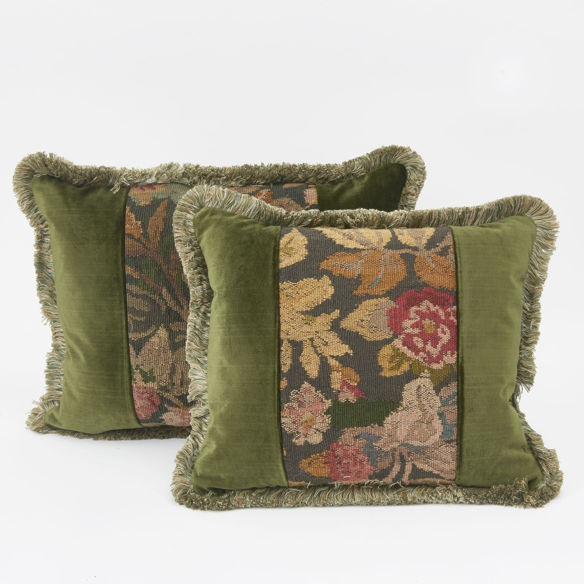 Tapestry And Velvet Cushions