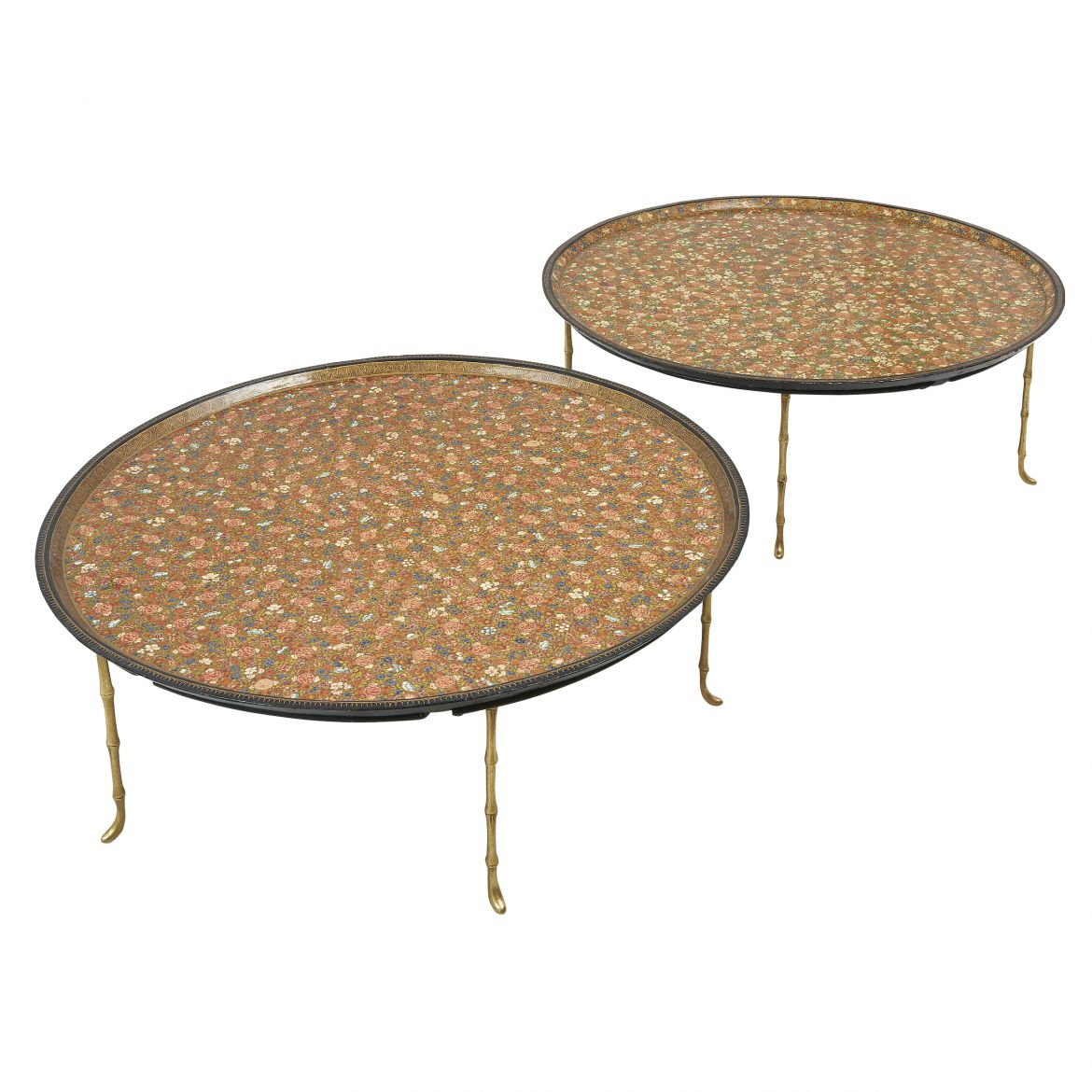 Pair Kashmir Lacquered  Tables