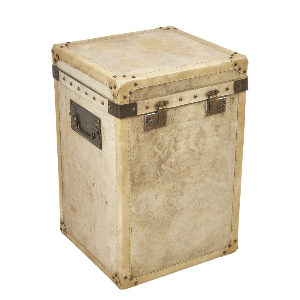 Vellum Trunk With Brass Hardware