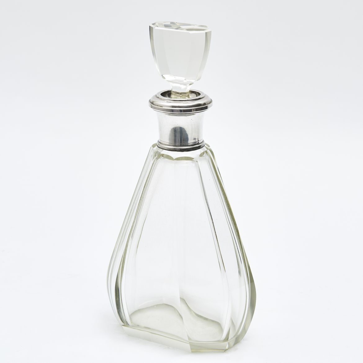 French Art Deco Ovoid Shaped Decanter