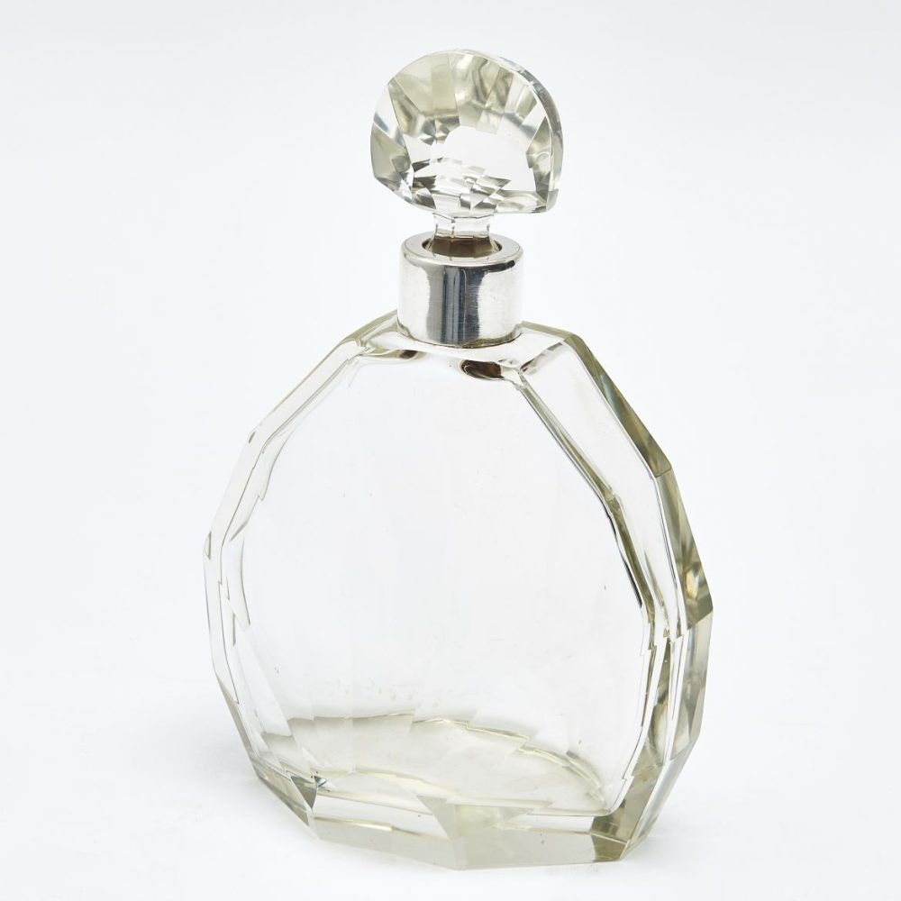 French Art Deco Fan Shaped Decanter