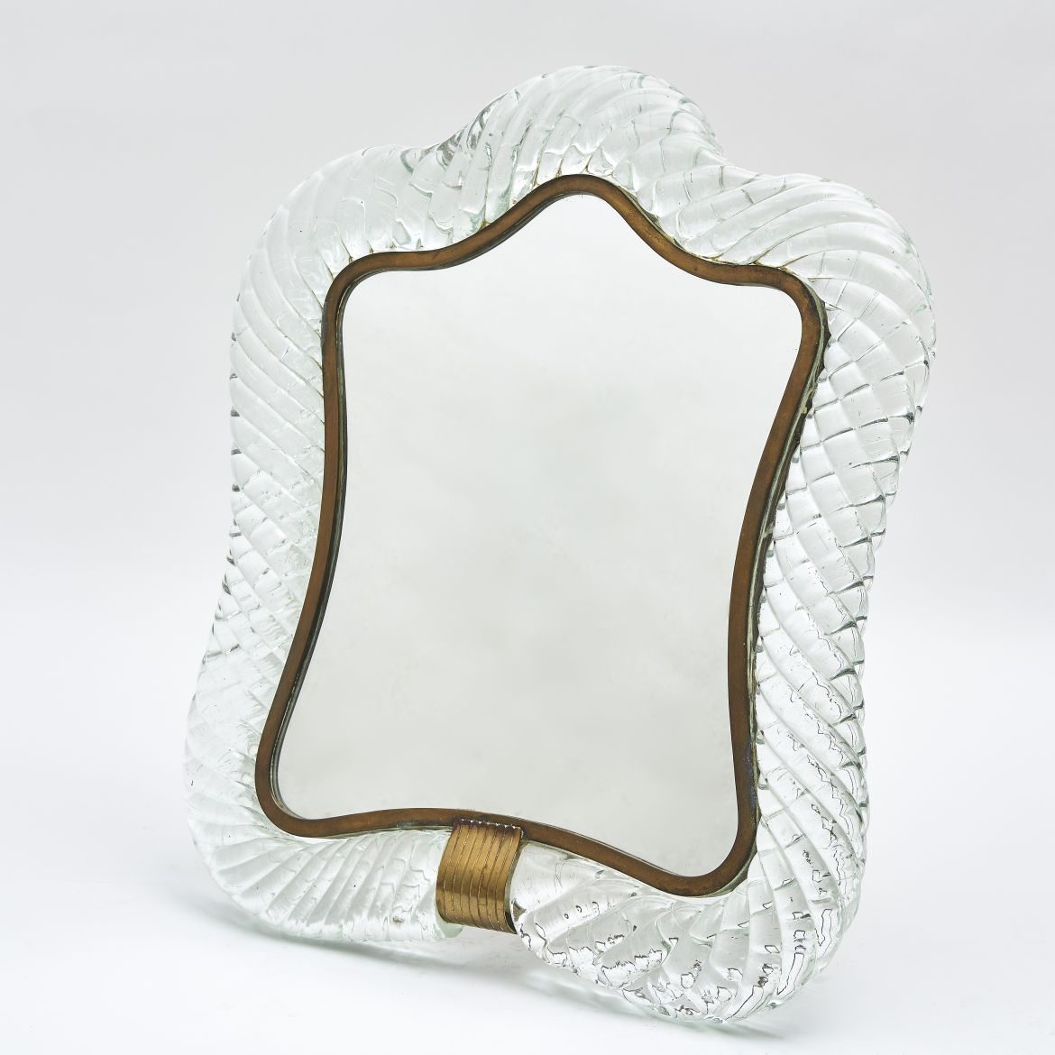 Italian Barovier & Toso Barley Twist Dressing Table Mirror