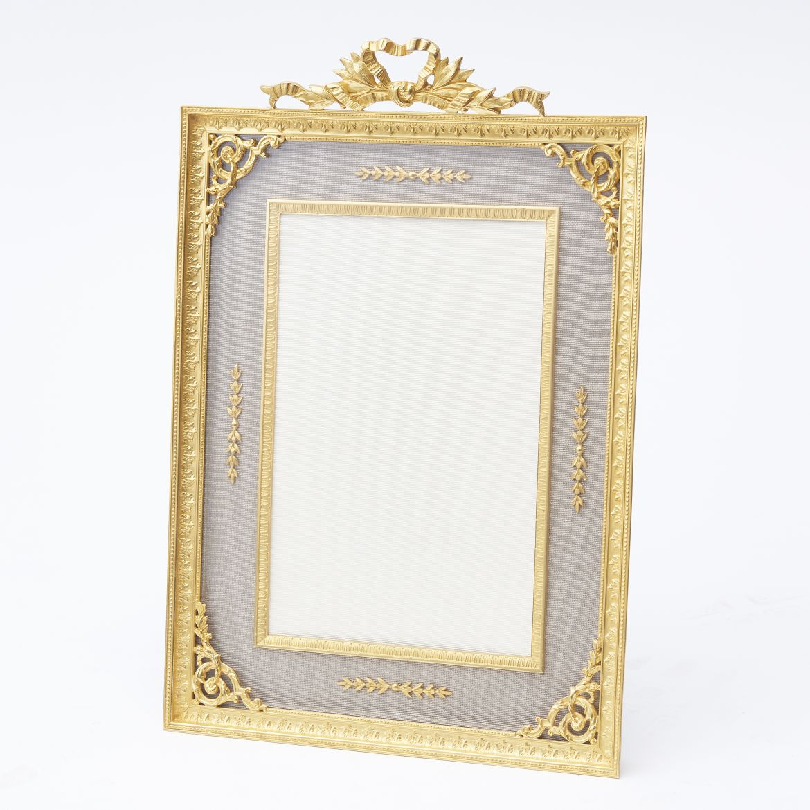 French Ormolu Frame With Bow Motif