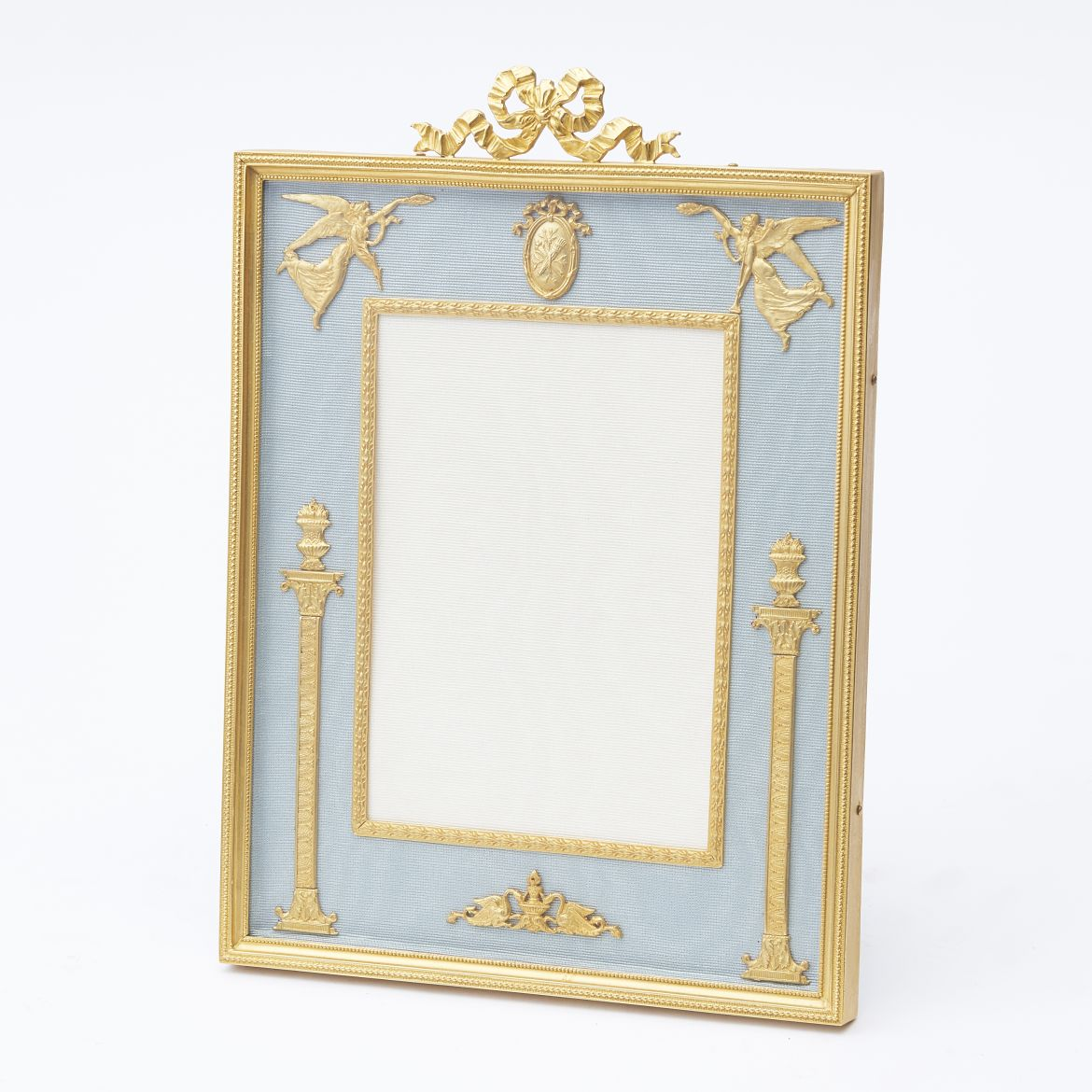 French Ormolu Frame With Ribbon Crest