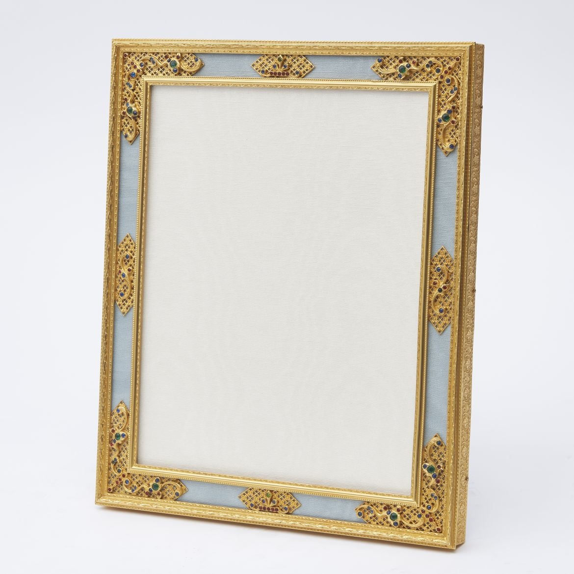 Large Ormolu Frame With Paste Stones And Filigree Decoration