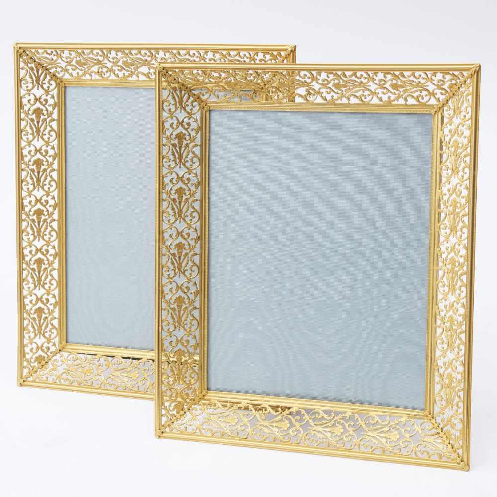 pair French Neoclassical Style Ormolu Frames With Pierced Decoration