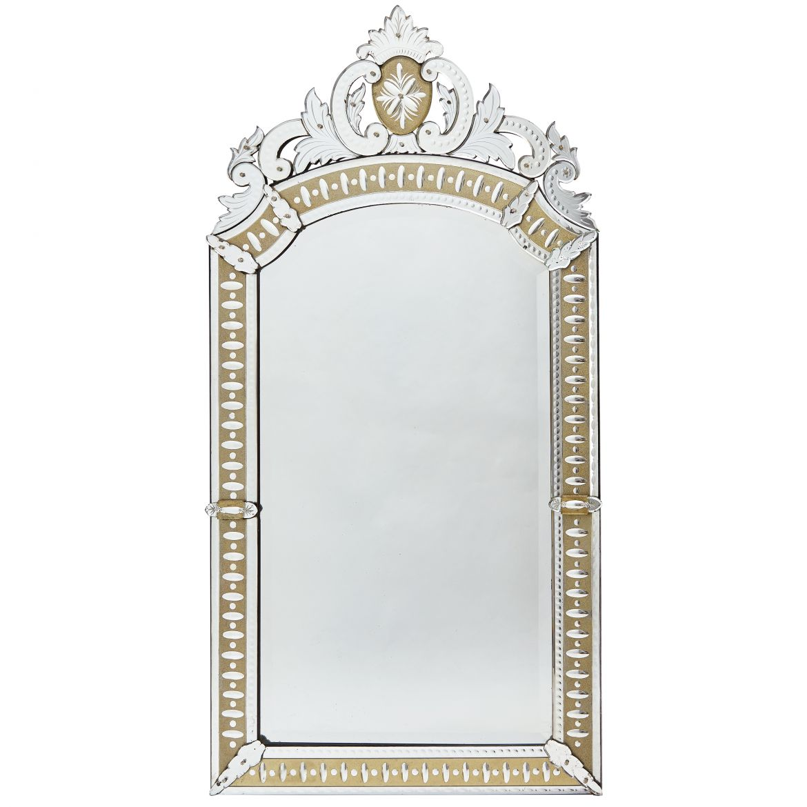 French Venetian Style Mirror With Gilt Ground Border