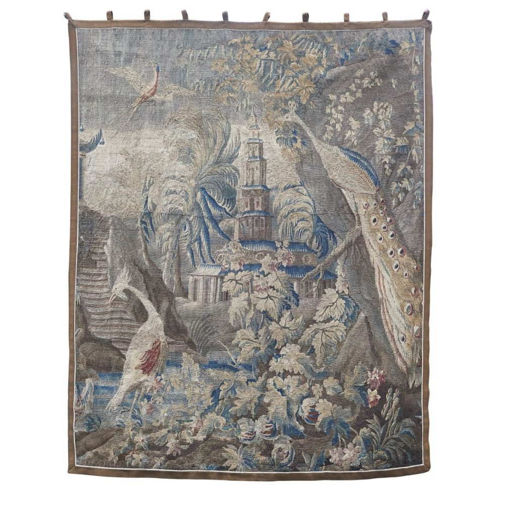 Aubusson Chinoiserie Tapestry After Designs By Pillement