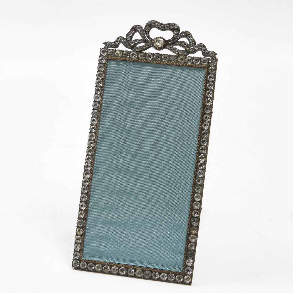 Silver Plate And Paste Bow Topped Frame