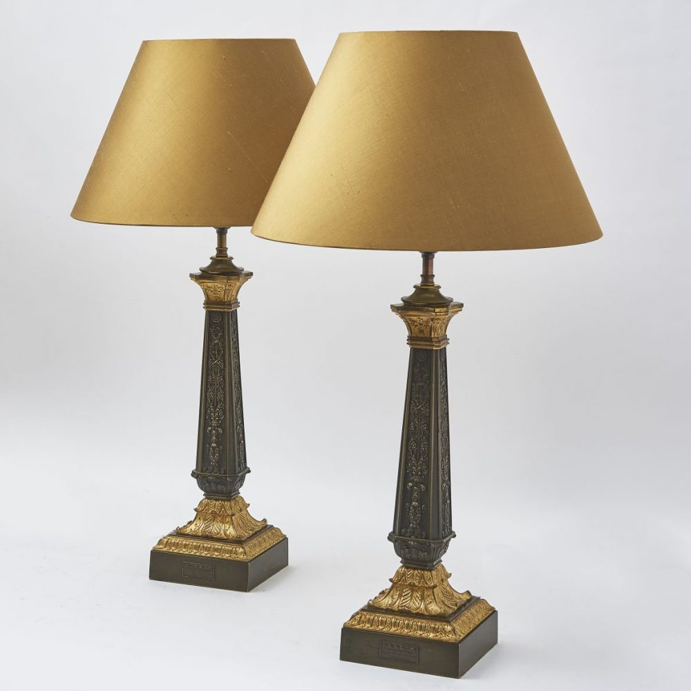 French Louis Philippe Lamps By Garnier Of Paris