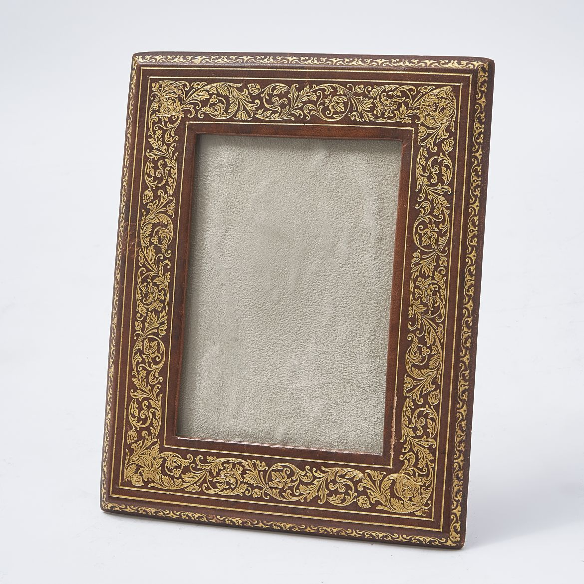 Italian Tooled Leather Photo Frame