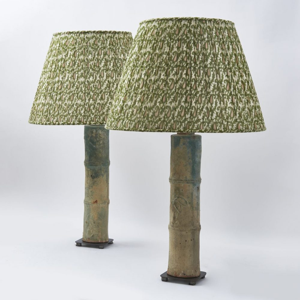 Han Dynasty Style Lamps In The Form Of Bamboo