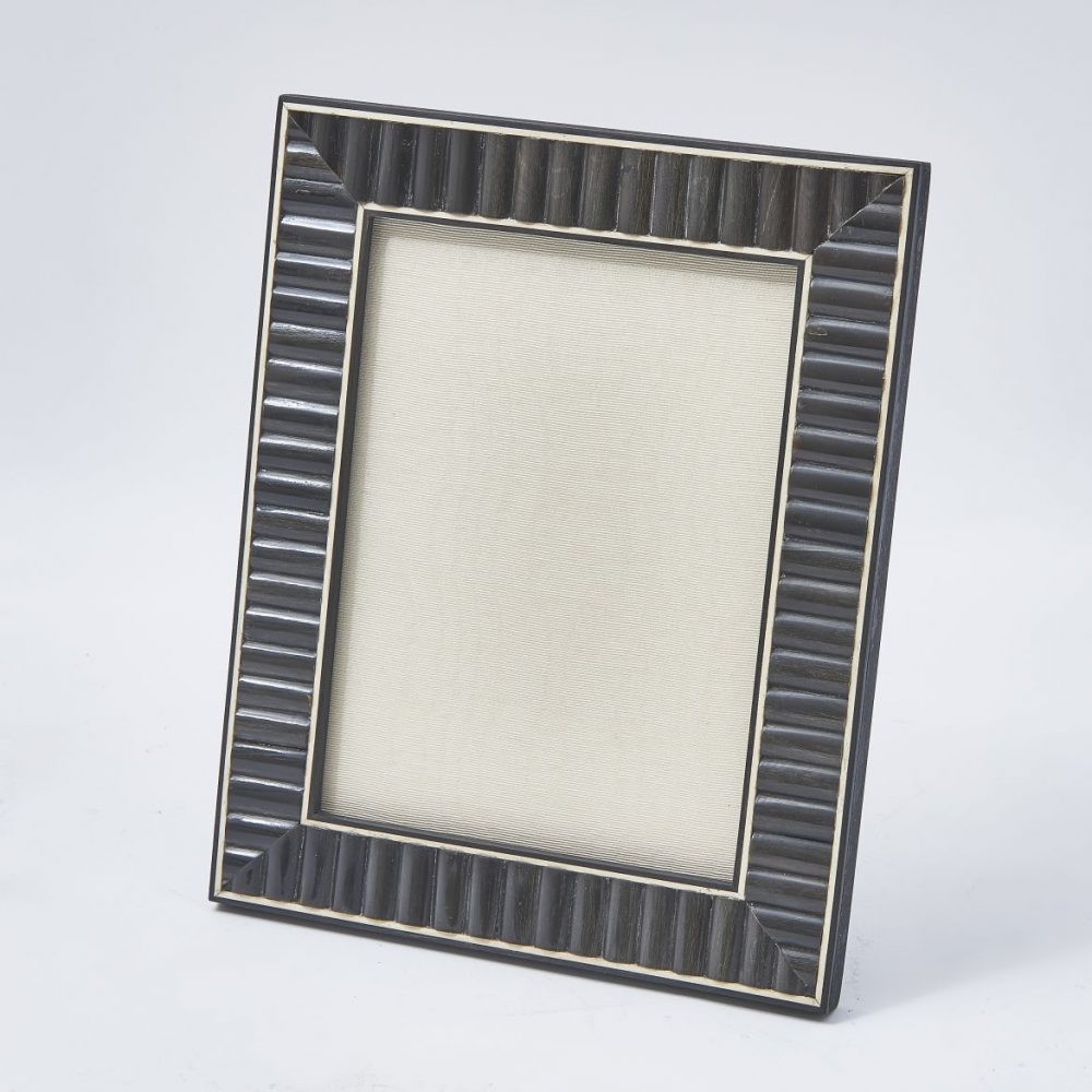 Horn Photo Frame With Bone Edging