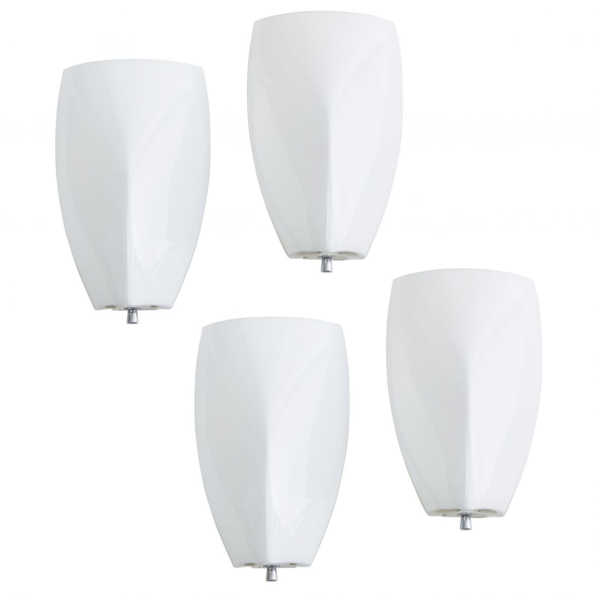 Set Four Murano Opaque Glass Wall Lights