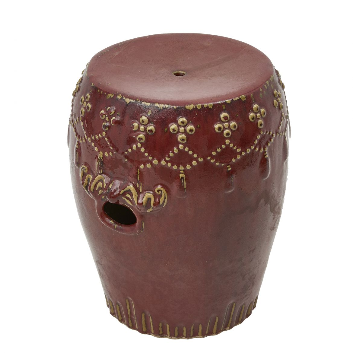 Chinese Oxblood Porcelain Stool
