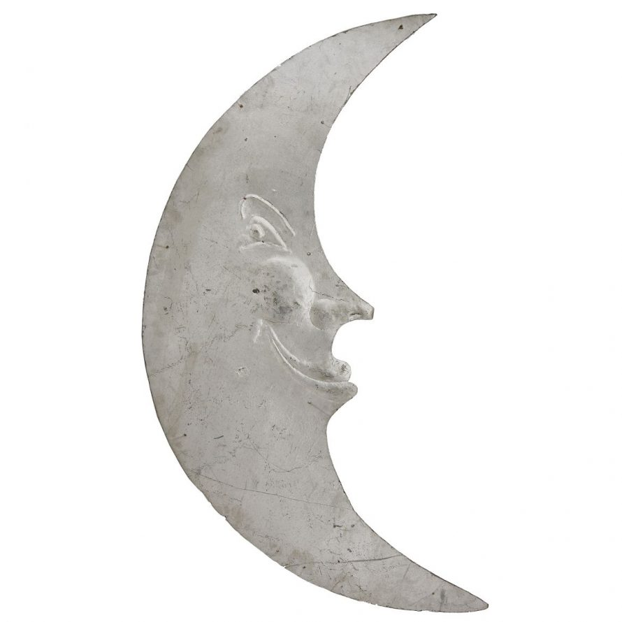 Spanish Zinc Bar Sign In The Form Of A Moon