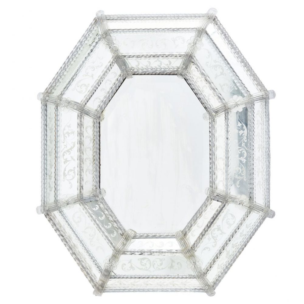 Octagonal Venetian Cushion Mirror
