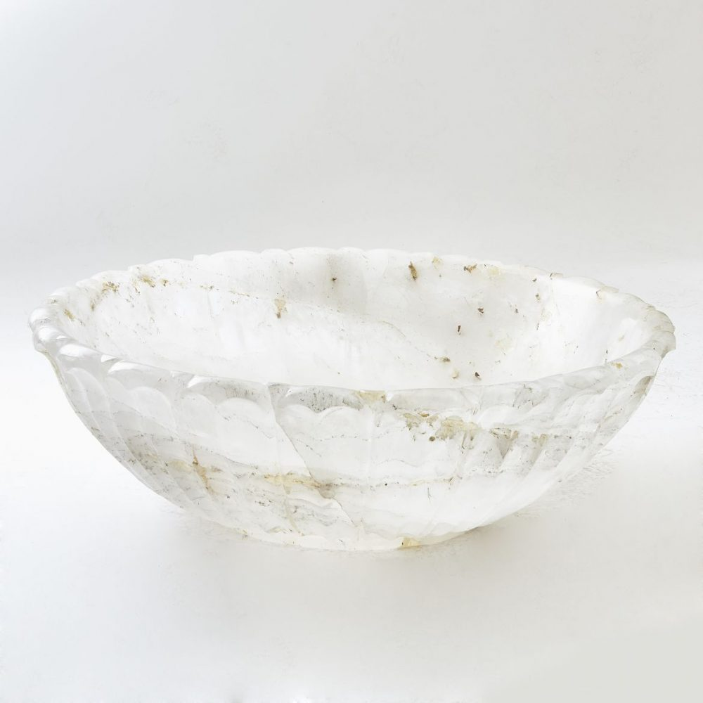 Very Large Contemporary Rock Crystal Bowl