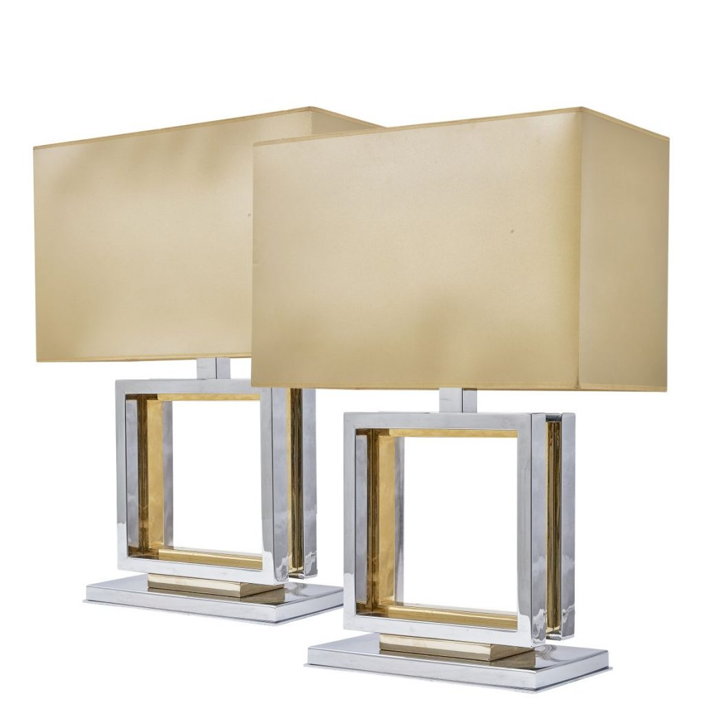 French Chrome And Brass Romeo Rega Lamps