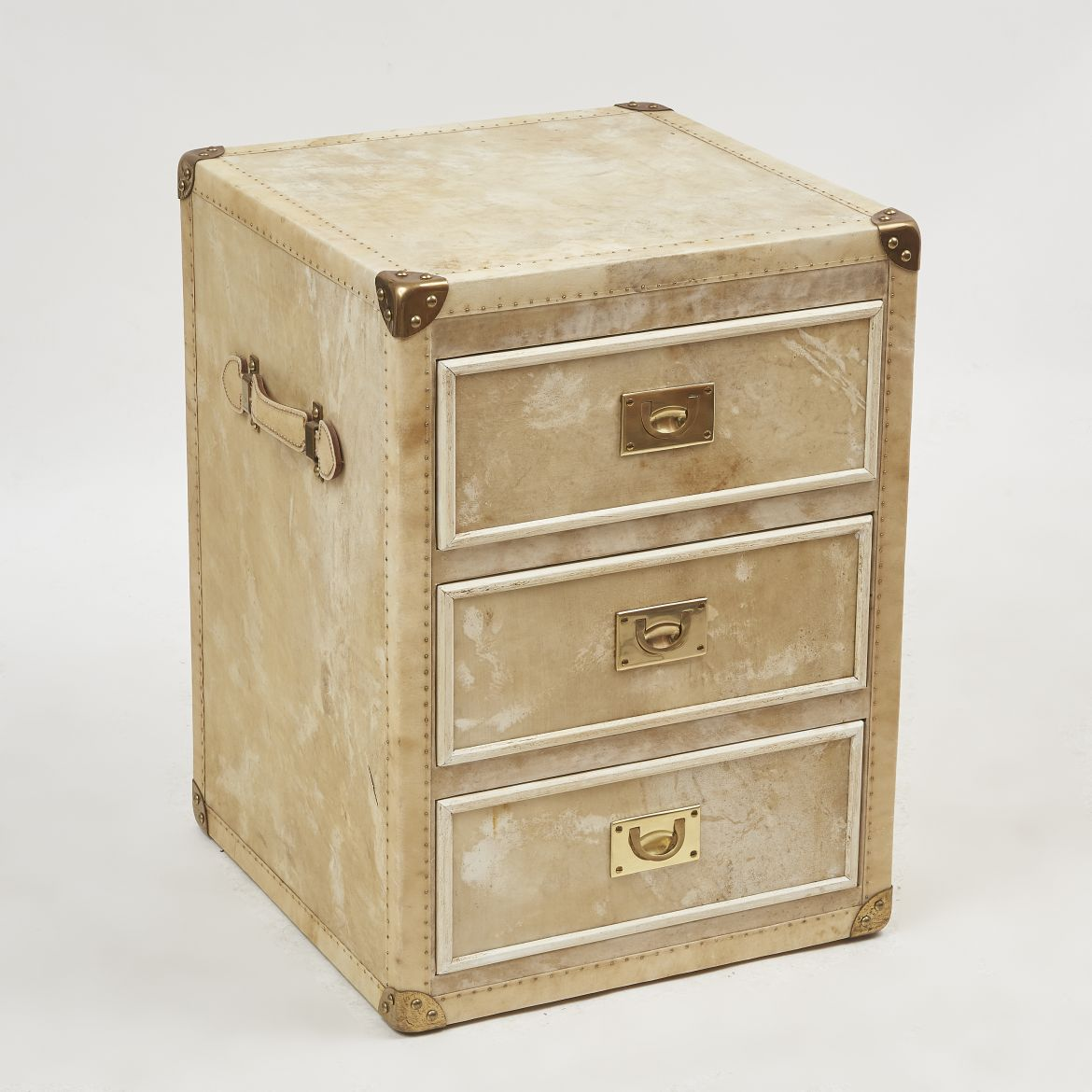 Vellum Covered Bedside Drawers