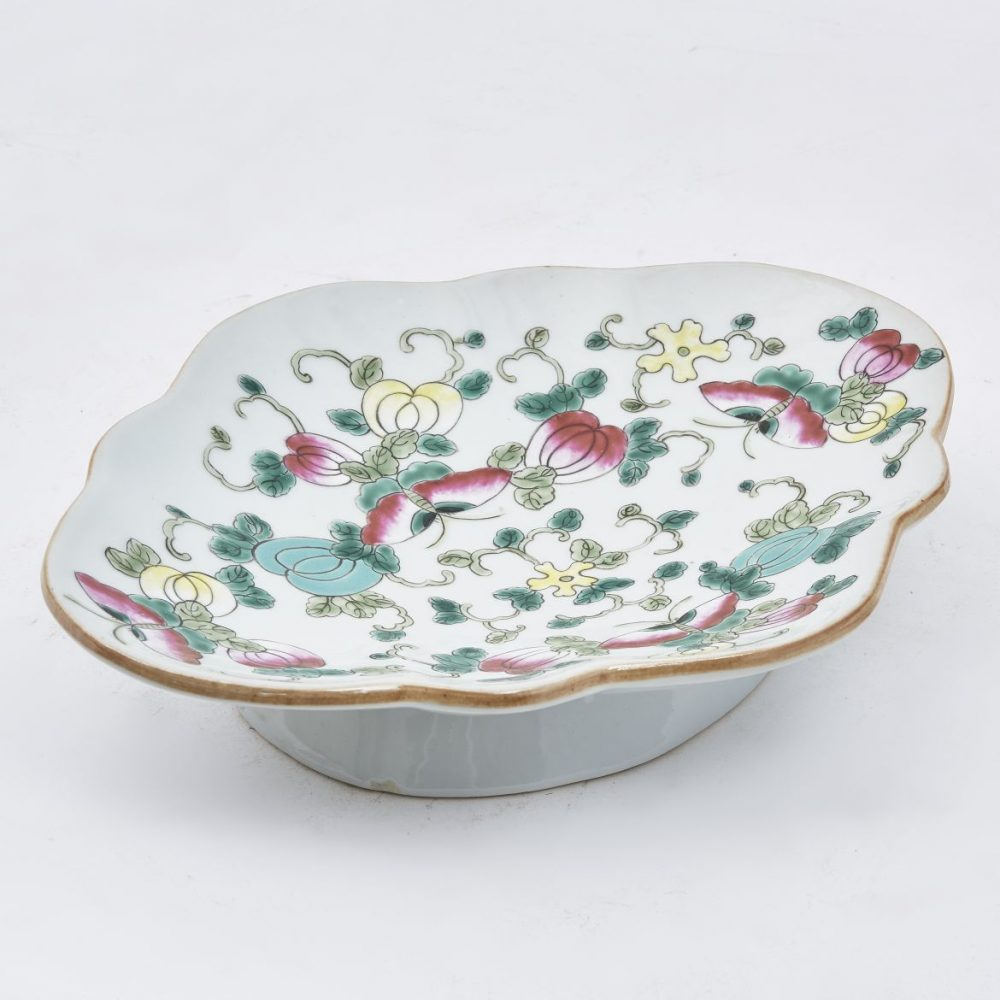 Pair Chinese Famille Rose Porcelain Sweetmeat Dishes