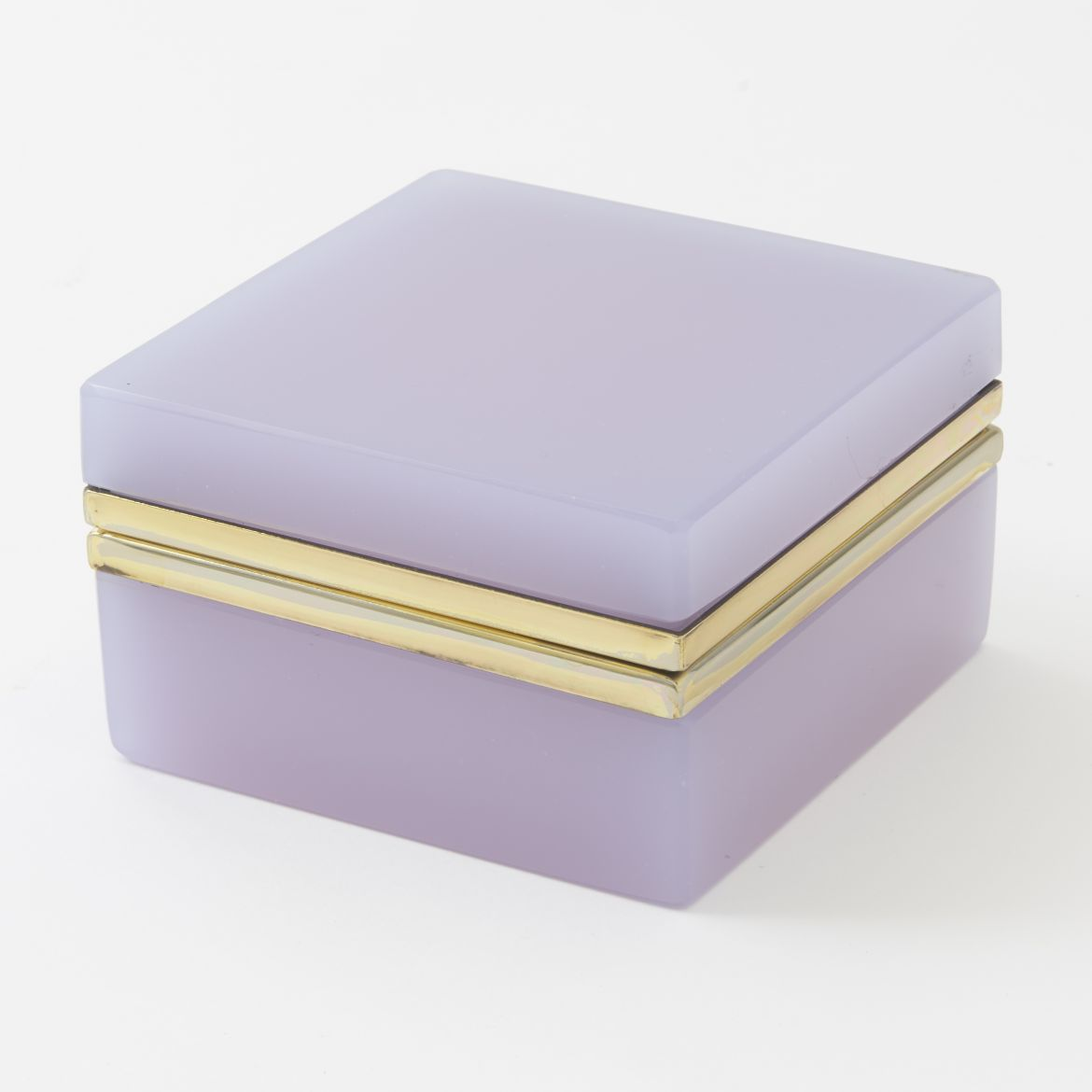 Lavender Alexandrite Square Glass Box