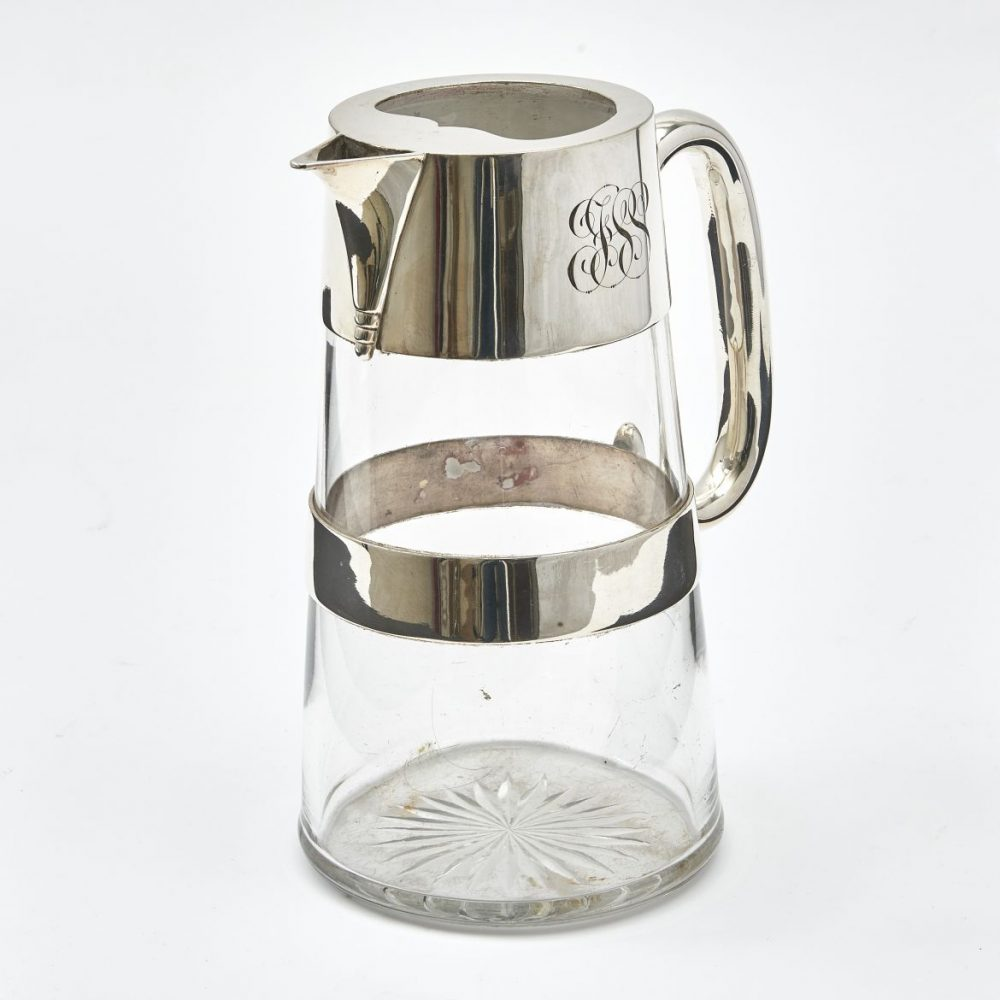 Mappin And Webb Silver Plate And Glass Water Jug