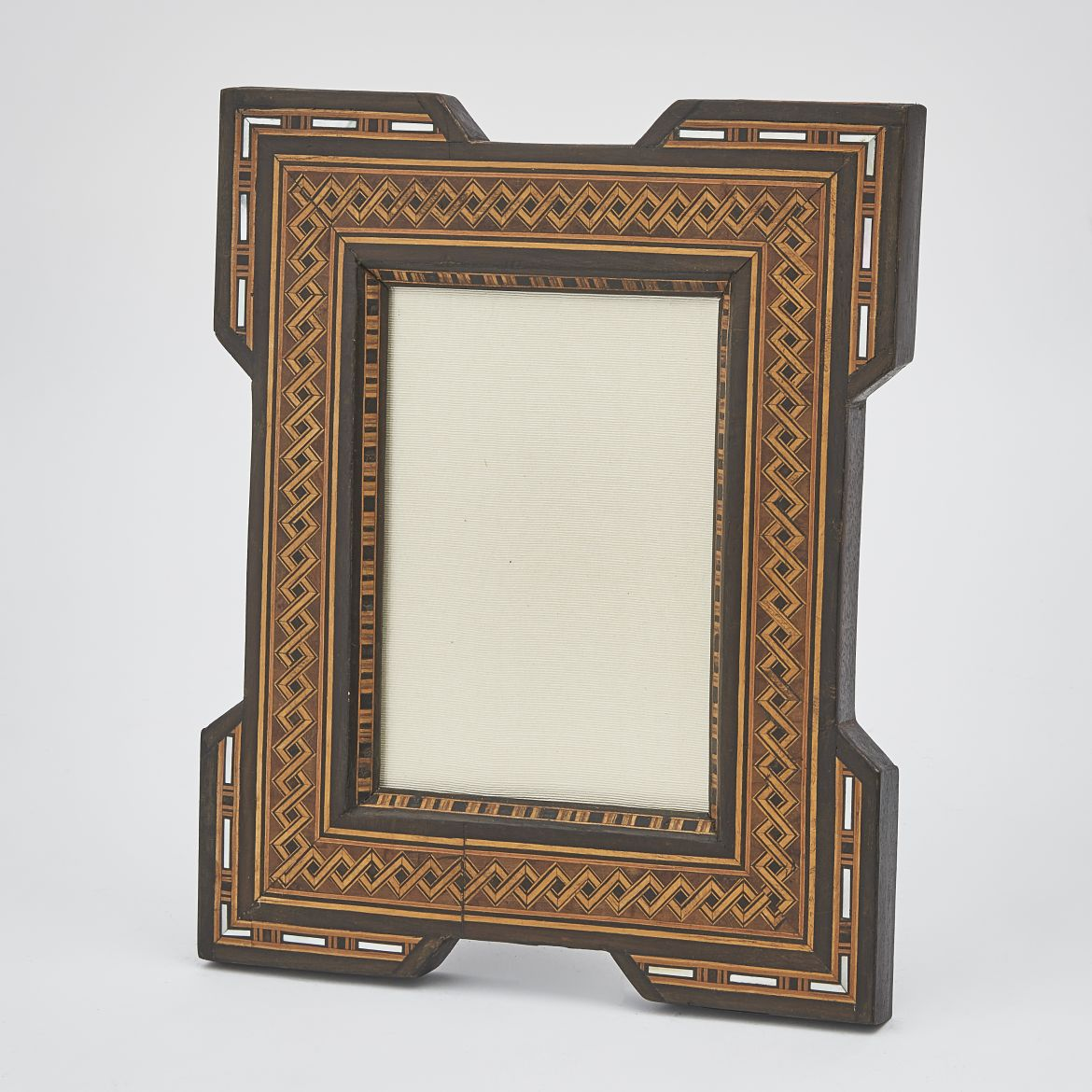 Parquetry Photo Frame Inlaid With Mother Of Pearl