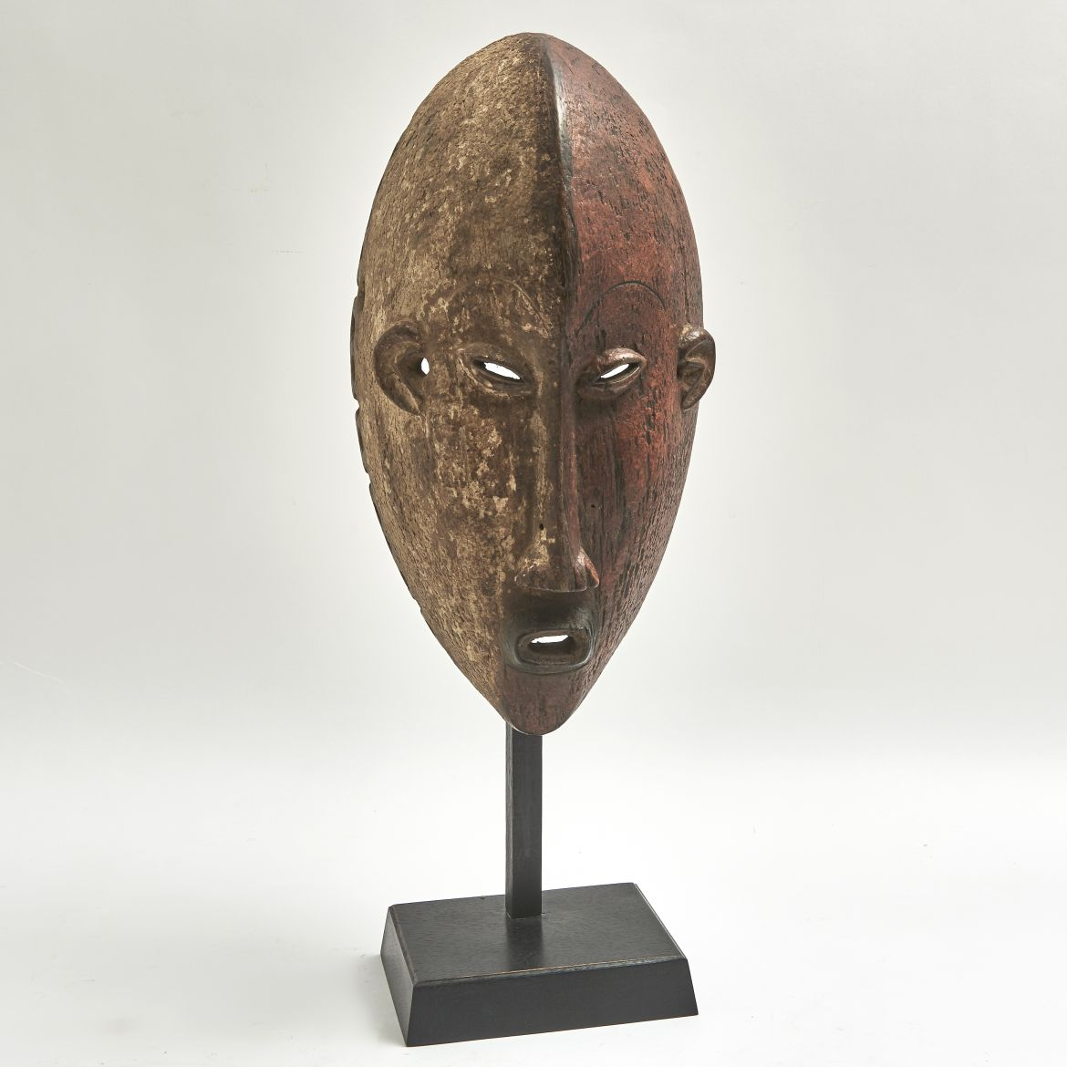 Rare Red Bamileke Tribal Mask