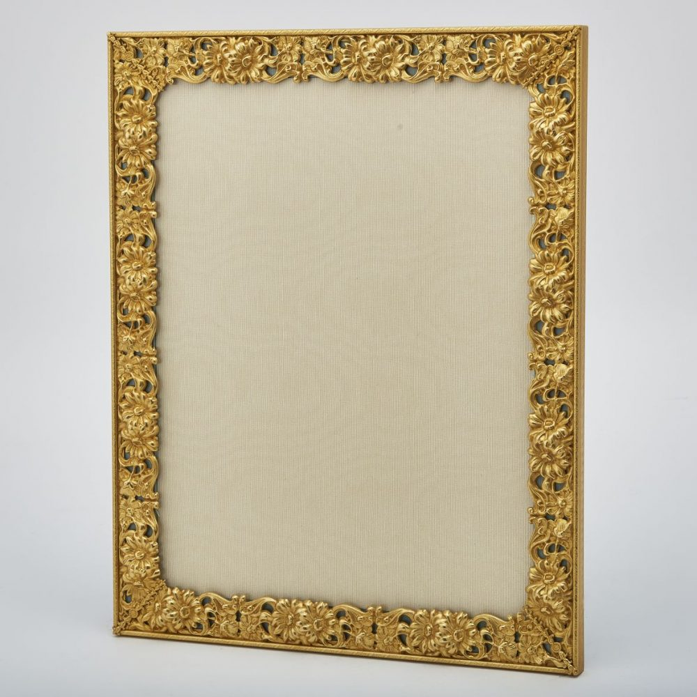 Gilt Bronze Frame With Pierced Foliate Border