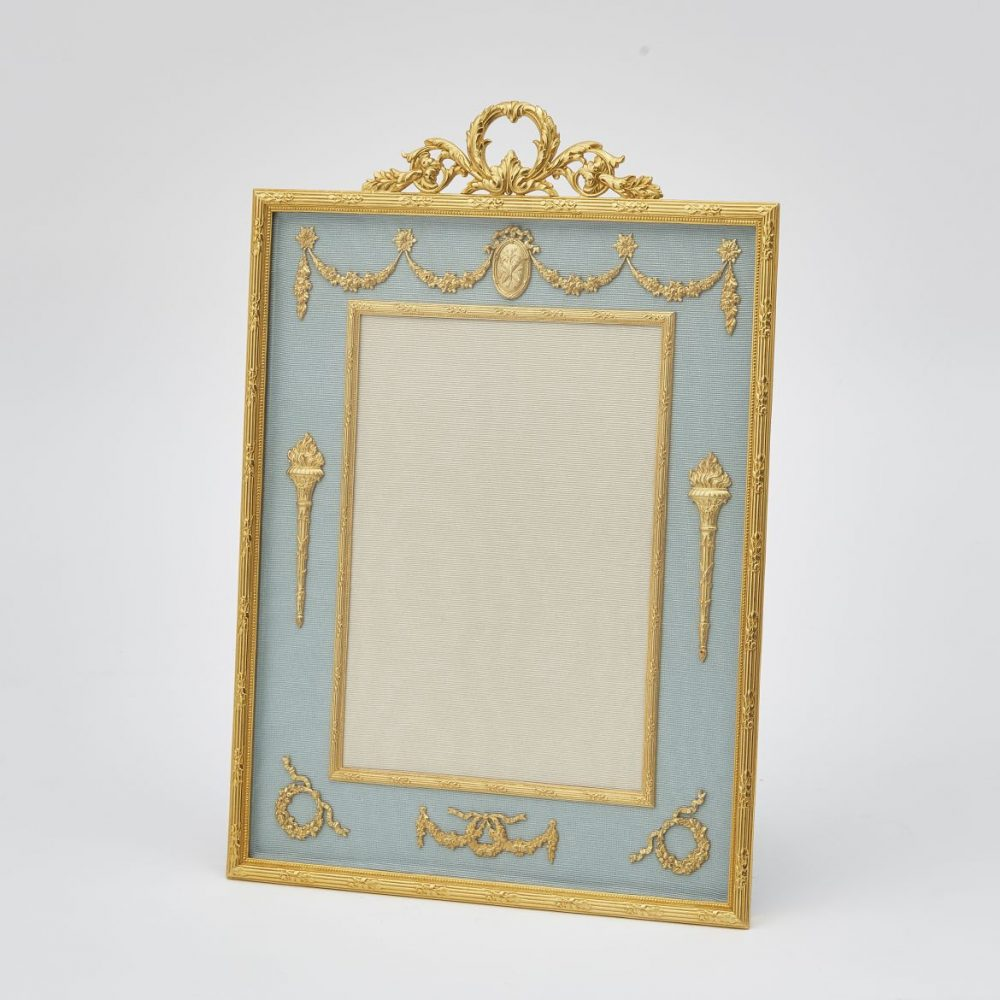 French Gilt Bronze Frame With Classical Motifs