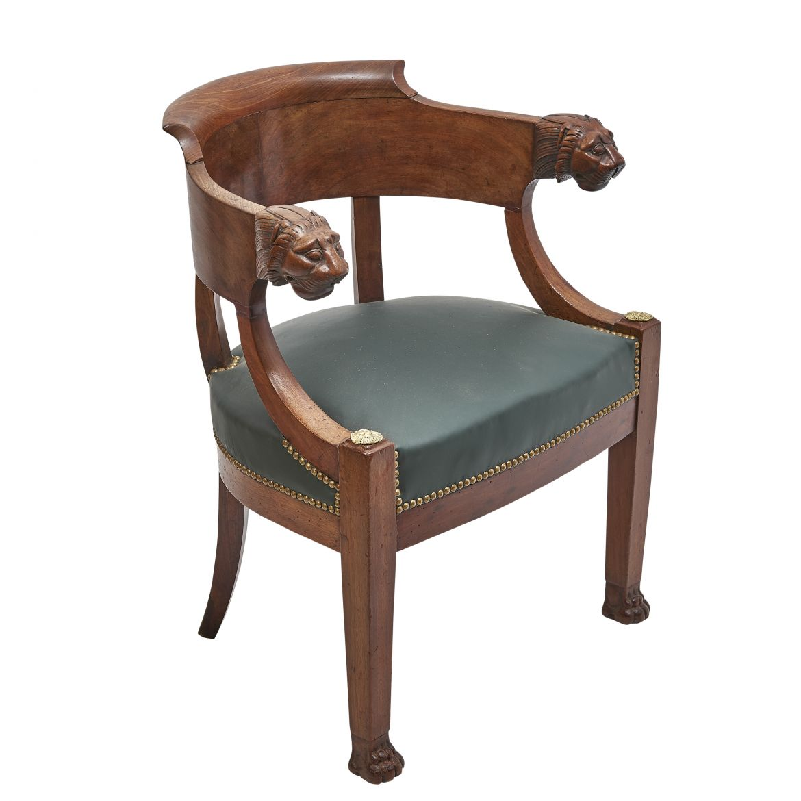 French Empire Mahogany Desk Chair