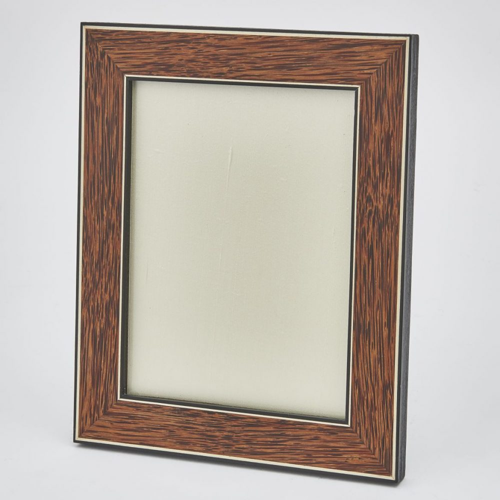 Palm Wood Frame Edged in Ebony