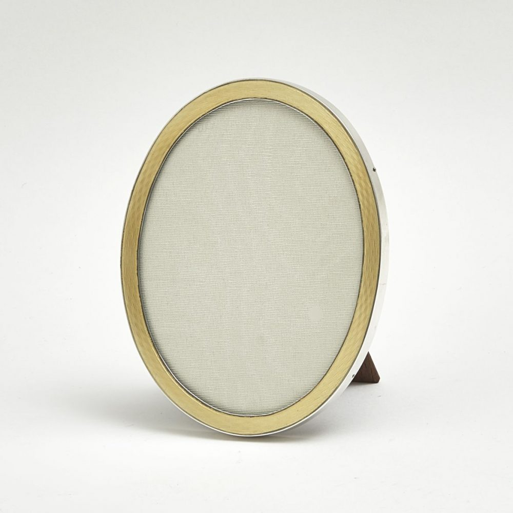 Enamel And Silver Dressing Table Mirror