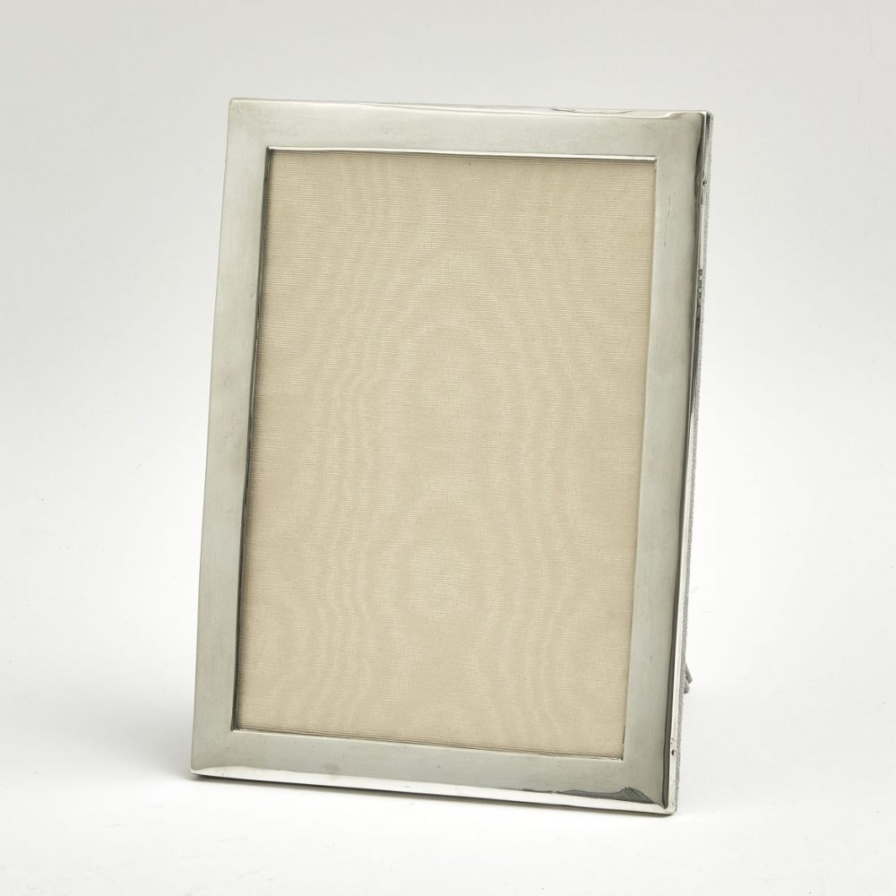 Silver Frame With Later Suede Back