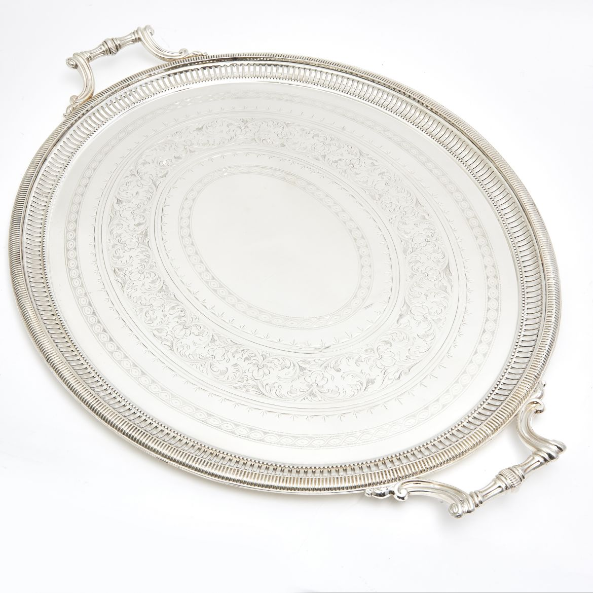 Silver Plate Oval Pierced Tray Stamped Henry Atkins