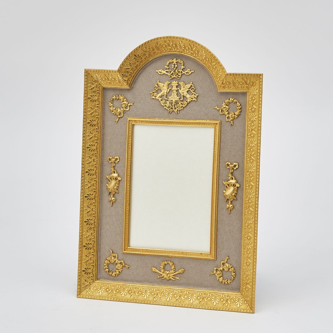 Gilt Bronze Arch Top Frame With Classical Motifs