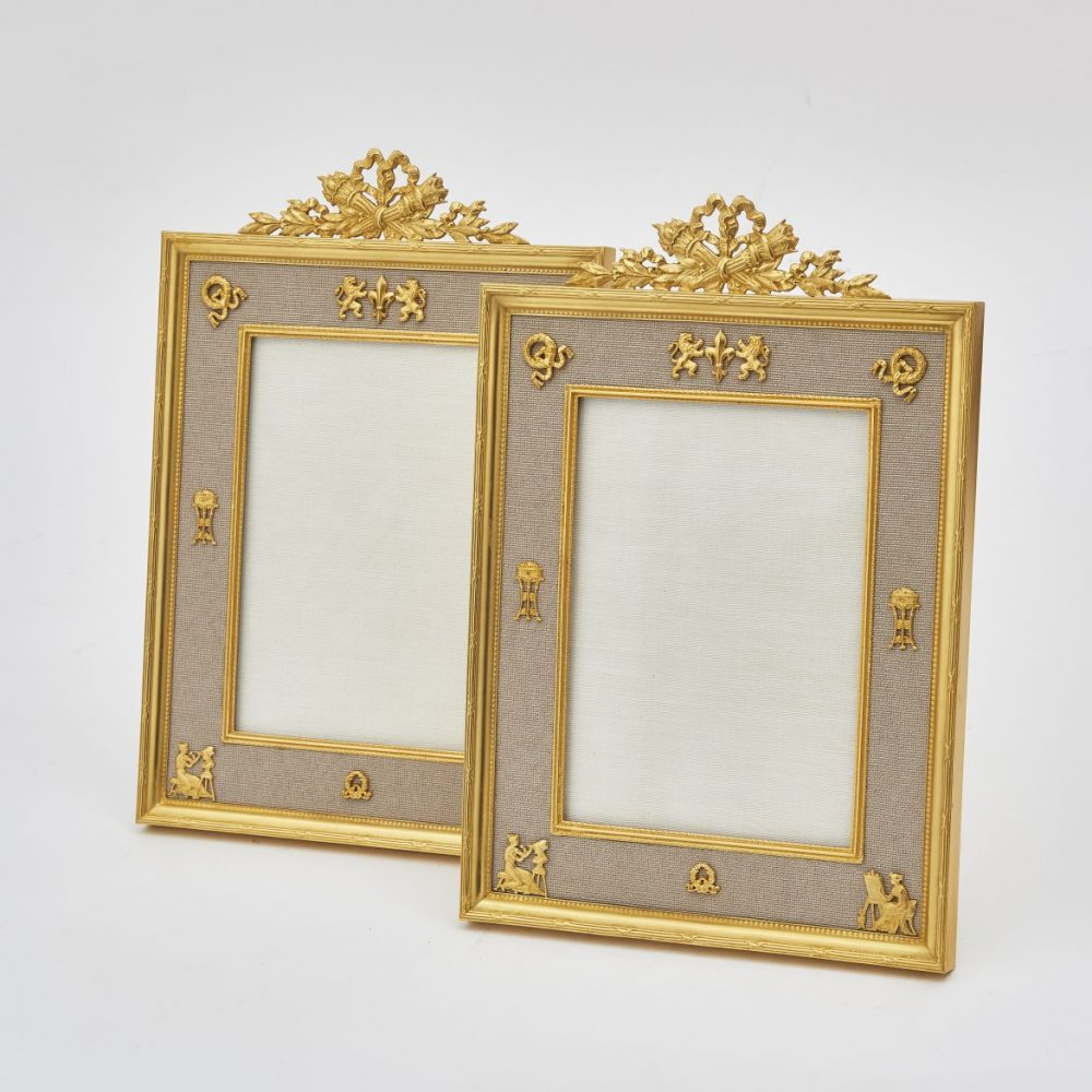 Pair French Gilt Bronze Frames