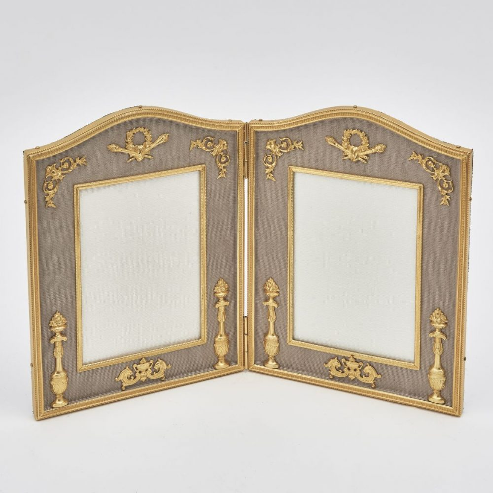 Gilt Bronze Double Arch Top Frame With Classical Motifs