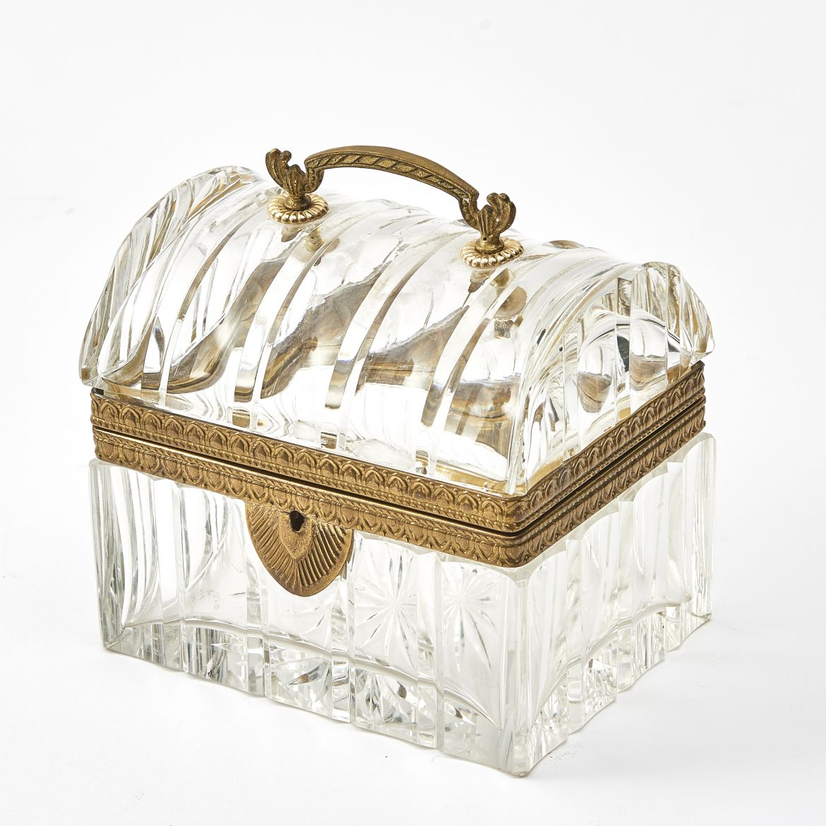 French Cut Crystal Box With Handles